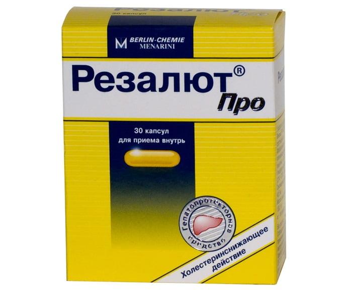Лечение жирового гепатоза печени лекарством Резалют