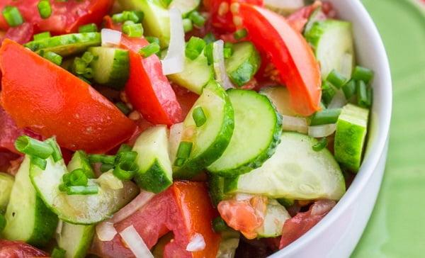 Овощной салат при холецистите