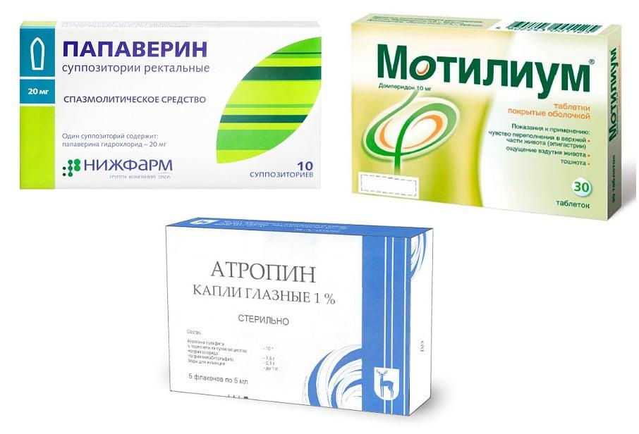 Спазмолитические препараты для лечения холецистита